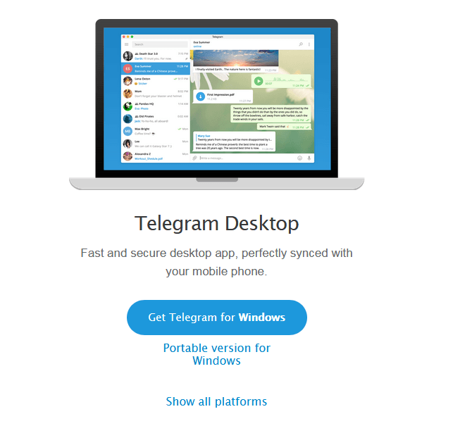 Телеграм установка на ПК