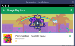 Установка Partymasters Fun Idle Game на ПК через BlueStacks