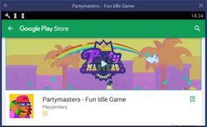 Установка Partymasters Fun Idle Game на ПК через BlueStacks