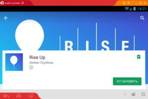 Установка Rise Up на ПК через Droid4X