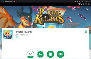 Установка Portal Knights на ПК через Nox App Player