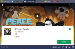 Установка Peace, Death на ПК через BlueStacks