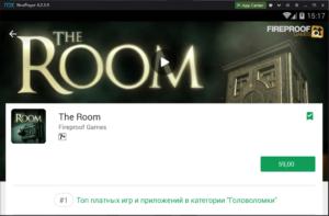 Установка The Room на ПК через Nox App Player