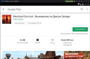 Установка Westland Survival на ПК через Nox App Player