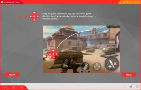 Кнопки в Droid4X для управления в играх