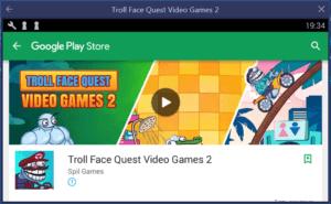 Troll Face Quest Video Games 2 на ПК через BlueStacks