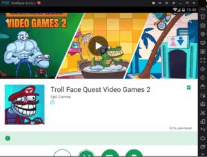 Troll Face Quest Video Games 2 на ПК через Droid4X