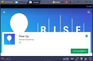 Установка Rise Up на ПК через BlueStacks