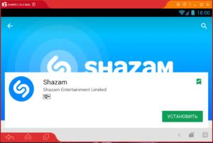 Установка Shazam на ПК через Droid4X