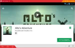 Установка Alto's Adventure на ПК через Droid4X