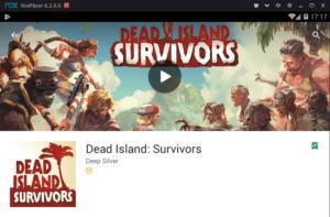Установка Dead Islands Survivors на ПК через Nox App Player