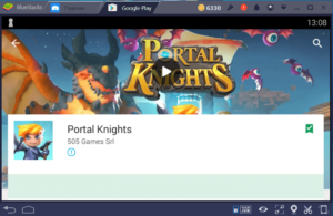 Установка Portal Knights на ПК через BlueStacks