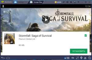 Установка Stormfall Saga of Survival на ПК через BlueStacks