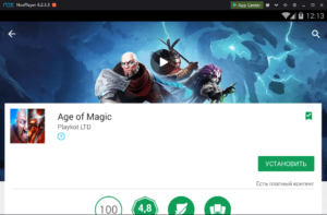 Установка Age of Magic на ПК через Nox App Player