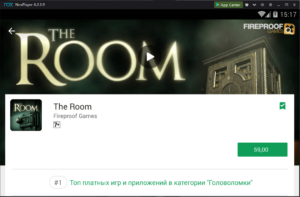 Установка The Room на ПК через Nox App Player