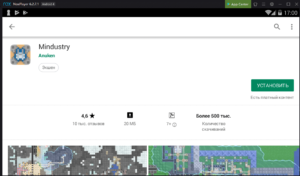 Установка Mindustry на ПК через Nox App Player