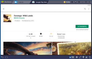 Установка Durango Wild Lands на ПК через BlueStacks