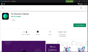 Установка Tor Browser на ПК через Nox App Player