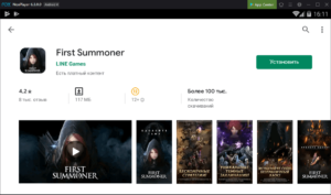 Установка First Summoner на ПК через Nox App Player