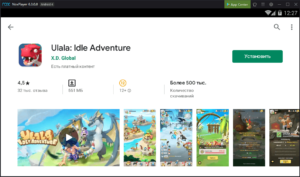 Установка Ulala Idle Adventure на ПК через Nox App Player