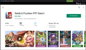 Установка Raids & Puzzles РПГ Квест на ПК через Nox App Player
