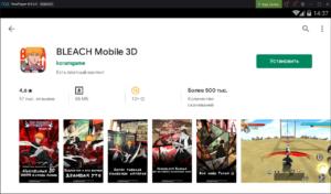 Установка BLEACH Mobile 3D на ПК через Nox App Player