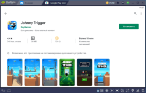 Установка Johnny Trigger на ПК через BlueStacks