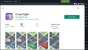 Установка Cross Fight на ПК через Nox App Player