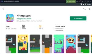 Установка Hitmasters на ПК через Nox App Player