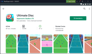 Установка Ultimate Disc на ПК через Nox App Player