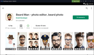 Установка Beard Man на ПК через Nox App Player