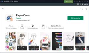 Установка PaperColor на ПК через Nox App Player
