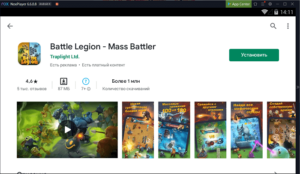Установка Battle Legion - Mass Battler на ПК через Nox App Player