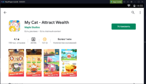 Установка My Cat - Attract Wealth на ПК через Nox App Player