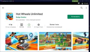 Установка Hot Wheels Unlimited на ПК через Nox App Player