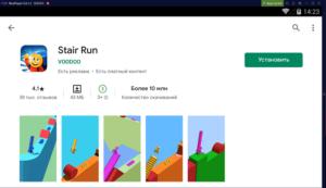 Установка Stair Run на ПК через Nox App Player