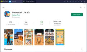Установка Basketball File 3D на ПК через BlueStacks