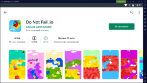 Установка Do Not Fail .io на ПК через Nox App Player